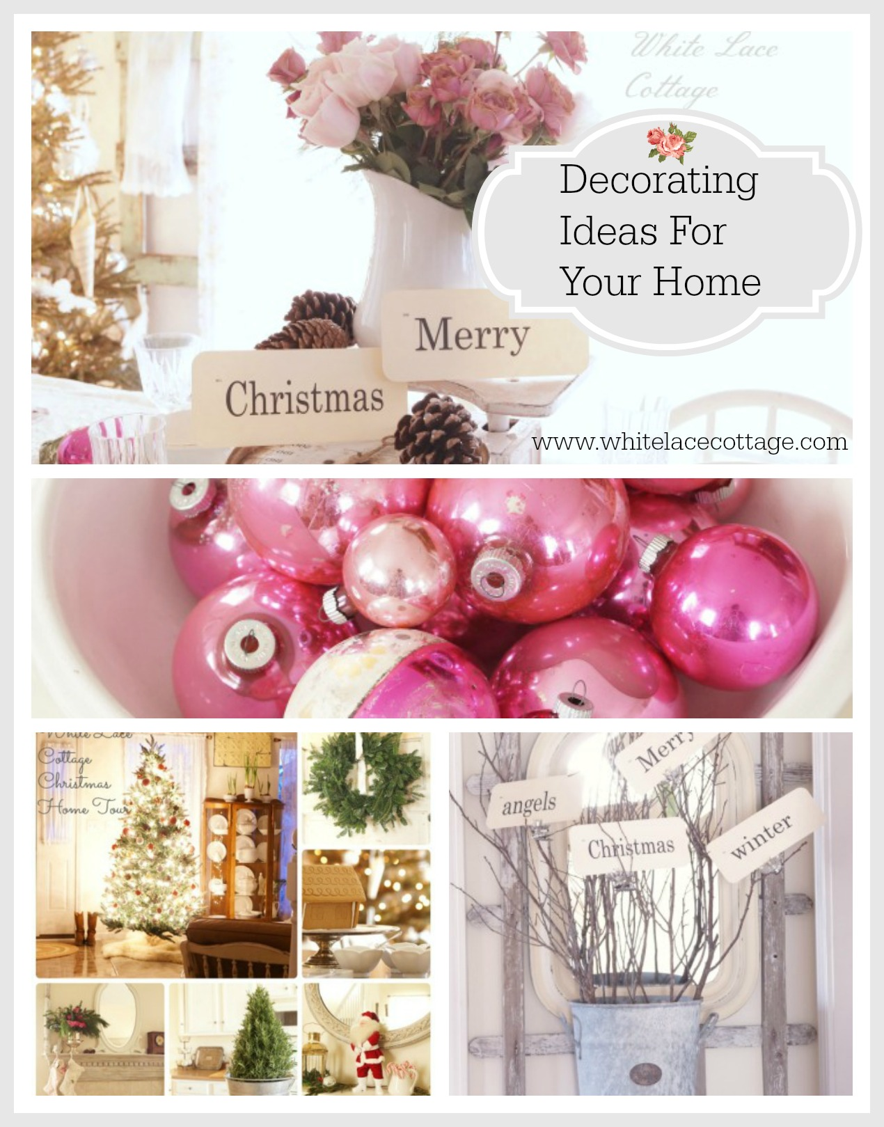 Christmas Decorating Ideas For Your Home White Lace Cottage