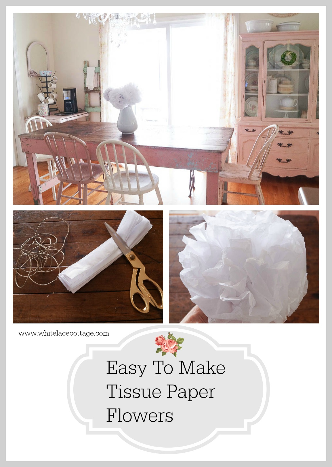 easy to make tissue paper flowers