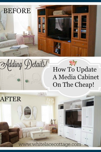 Media Cabinet DIY Makeover