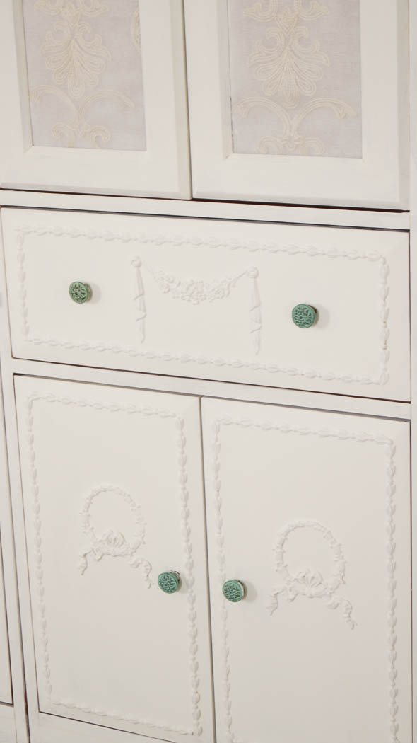 Media Cabinet DIY Makeover - White Lace Cottage