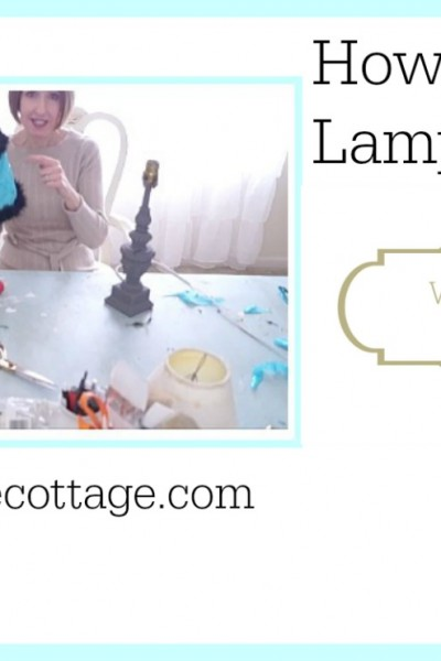 How To Update A Lampshade Because I'm Cheap