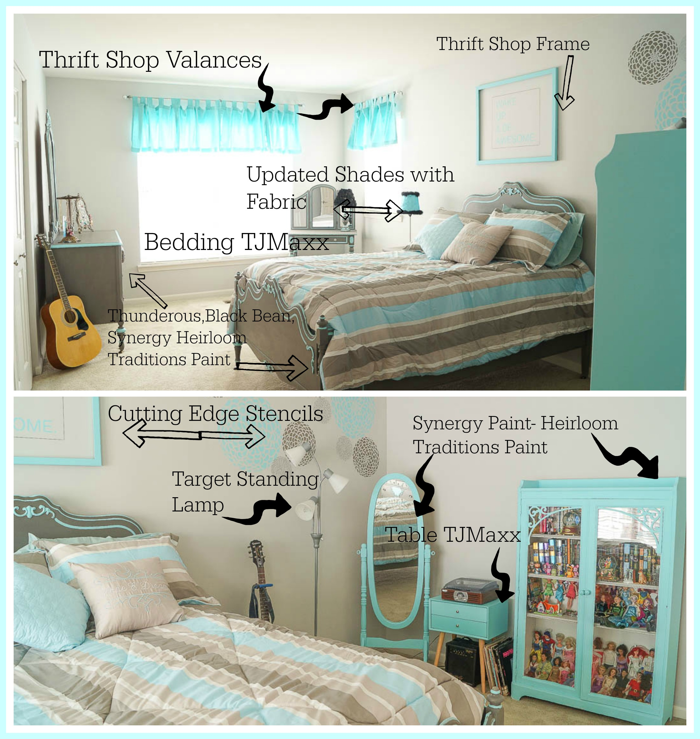 How To Update A Teen Bedroom On A Budget White Lace Cottage - How to update bedroom furniture