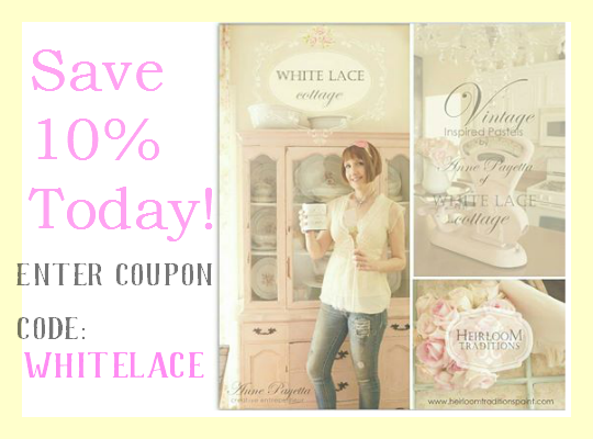click here to order the best paint and recieve %10 off of your order! Just add the code whitelacecottage in checkout!