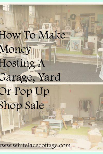 Make Money Hosting Garage Sales