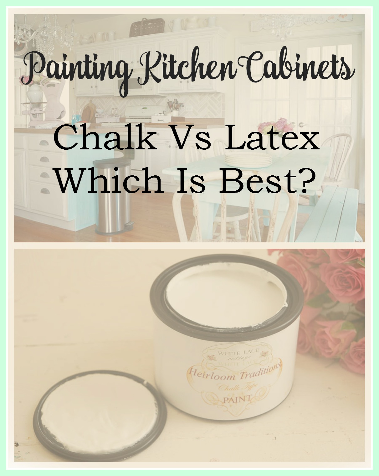 Painting kitchen cabinets chalk or latex for Best latex paint for kitchen cabinets
