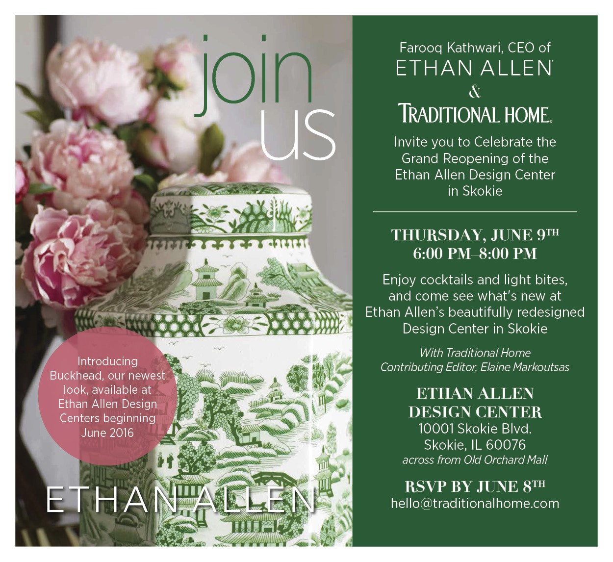 Ethan Allen Grand Opening Event In Skokie