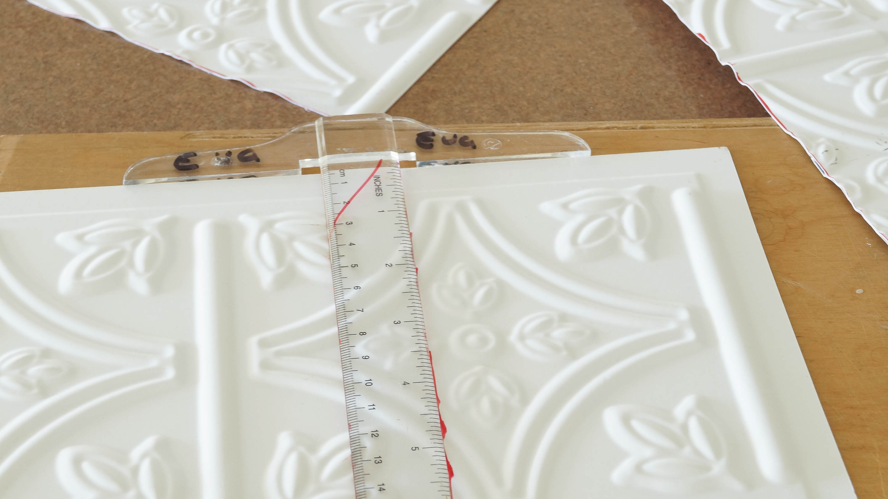 Faux tin ceiling tiles kitchen island white lace cottage faux tin ceiling tiles kitchen island dailygadgetfo Gallery