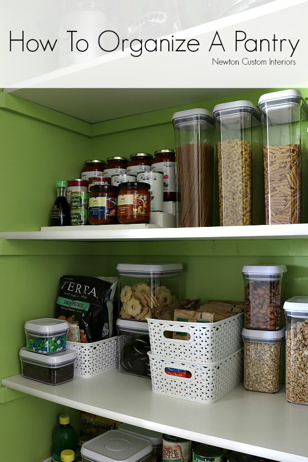 how to organize a pantry from