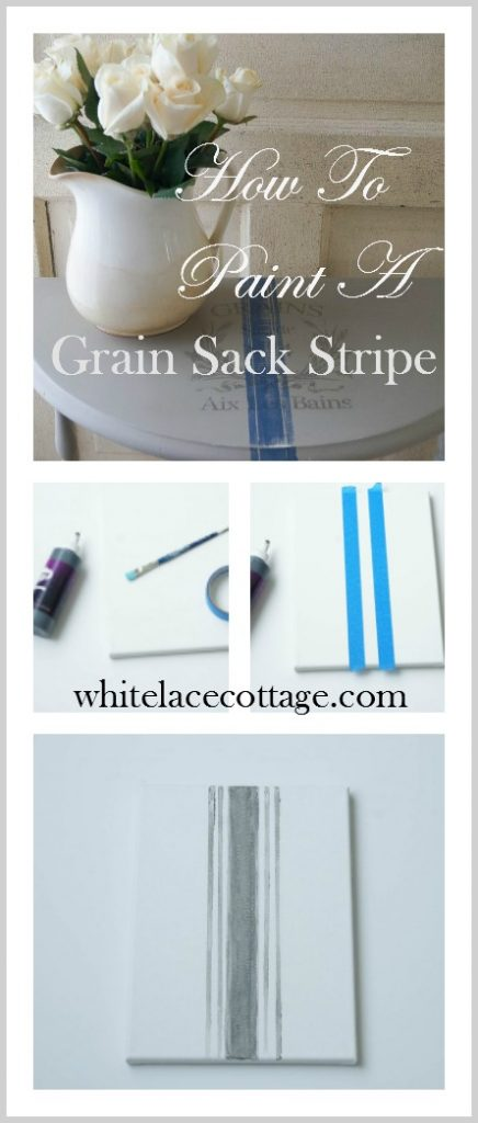How to paint a grain sack stripe