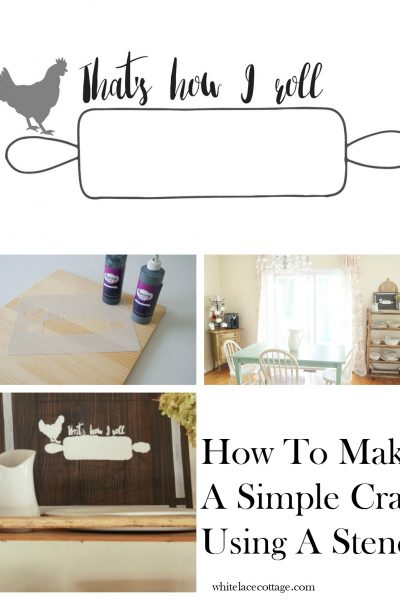 How To Make A Simple Craft Using A Stencil