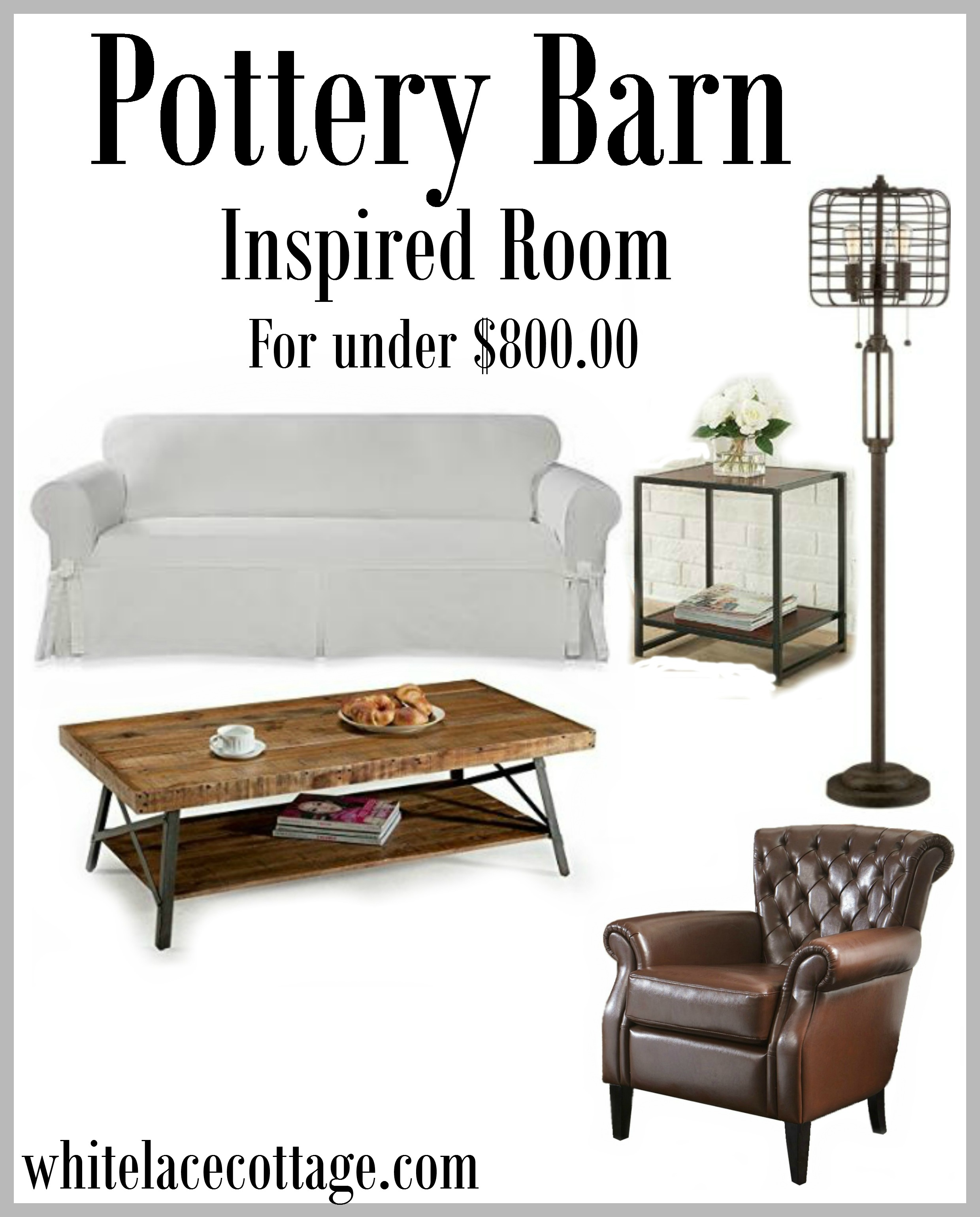 Pottery Barn Inspired Look For Less White Lace Cottage