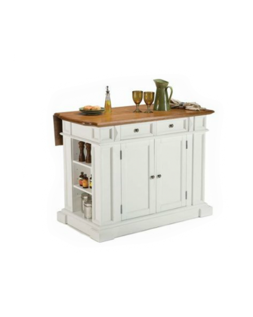 Kitchen island table with stools - Small Kitchen Island Ideas With Seating White Lace Cottage