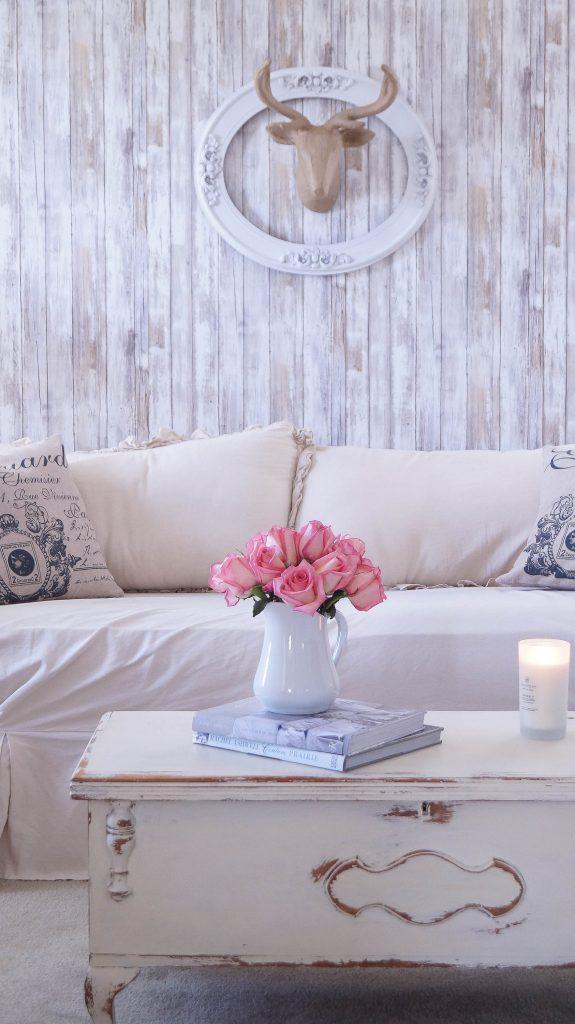 Reusable Wallpaper Faux Wood Accent Wall - ANNE P MAKEUP ...