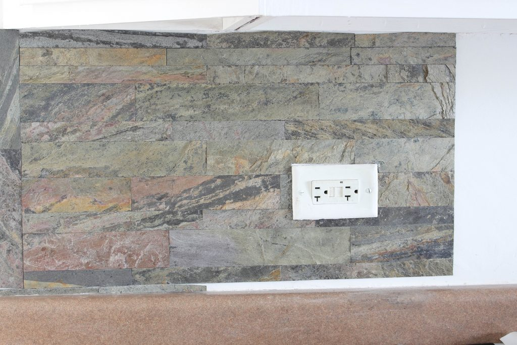 Installing Peel And Stick Stone Aspect Tiles White Lace