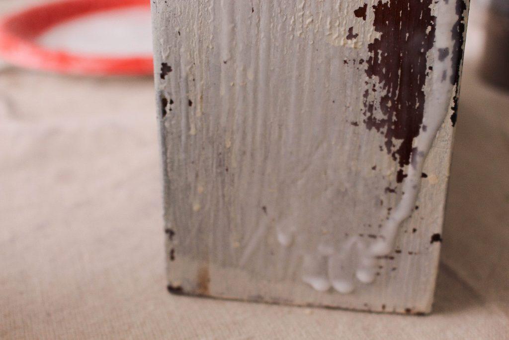 Create A Crackled Distressed Look Using Elmer's Glue