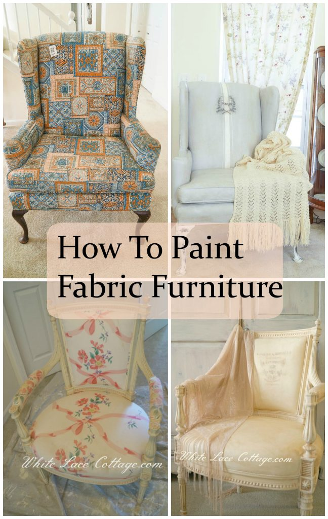 how to paint fabric furniture white lace cottage. Black Bedroom Furniture Sets. Home Design Ideas