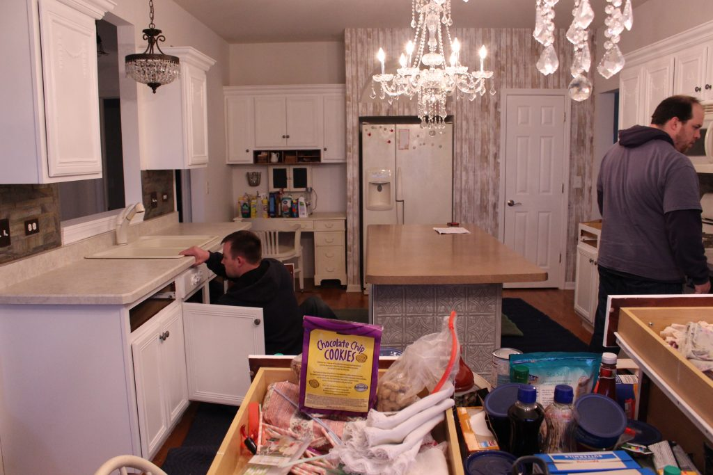 Kitchen Process New Counters Looking Back