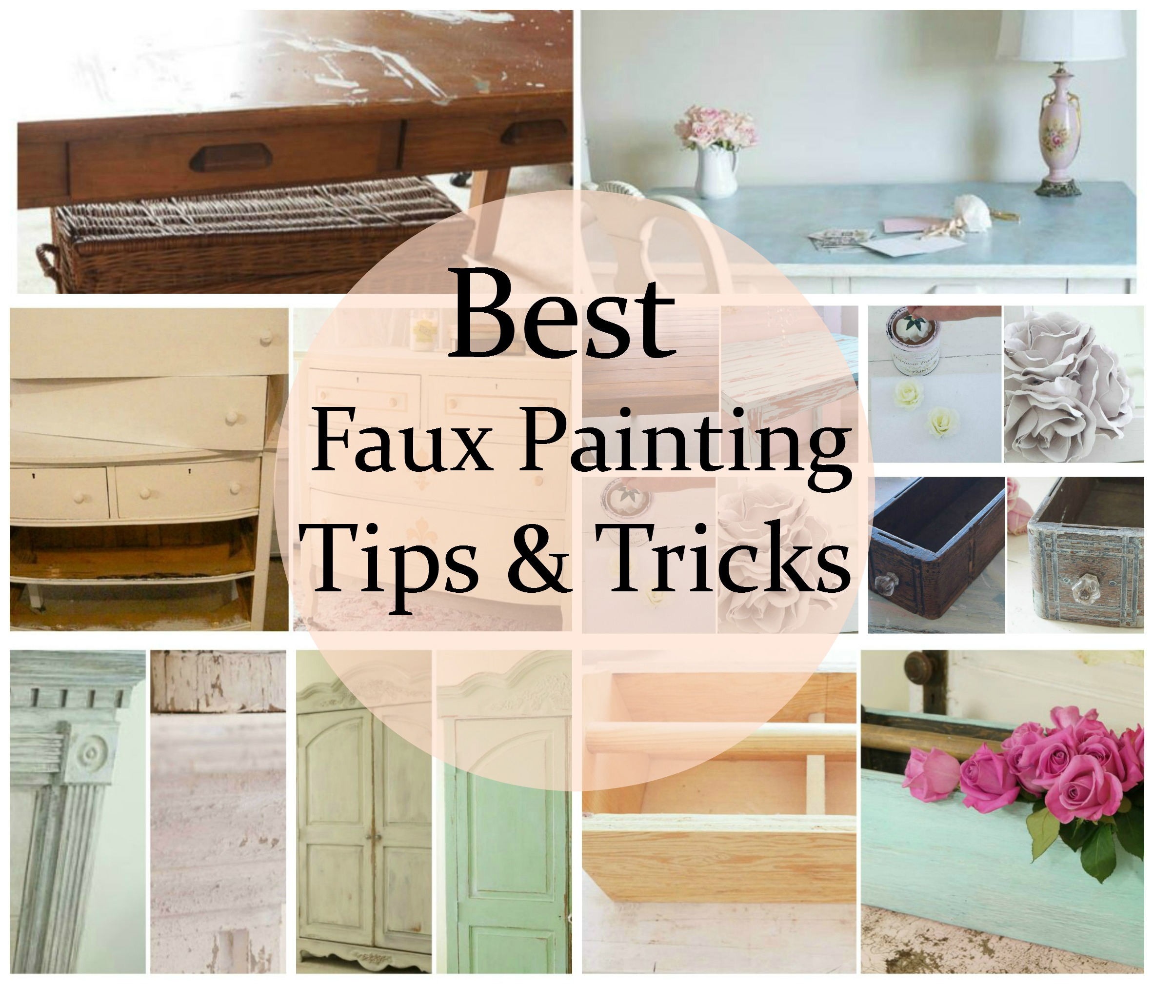 Best Faux Painting Tips Tricks White Lace Cottage