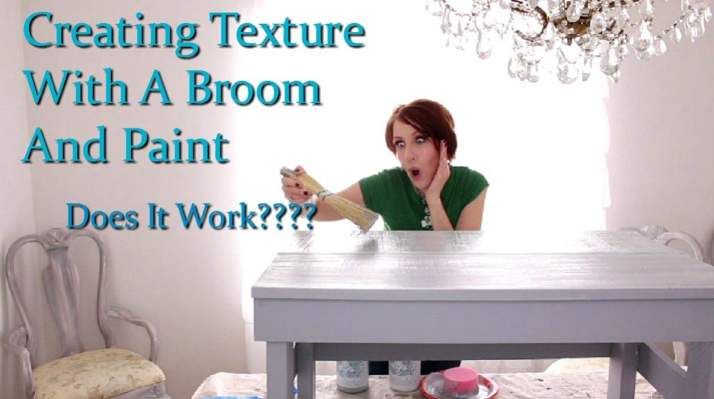 how to create texture using a broom and paint