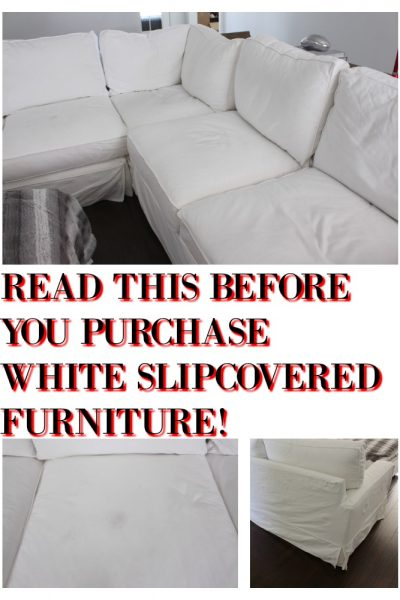 WHITE SLIPCOVERS WHY IT'S A BAD IDEA
